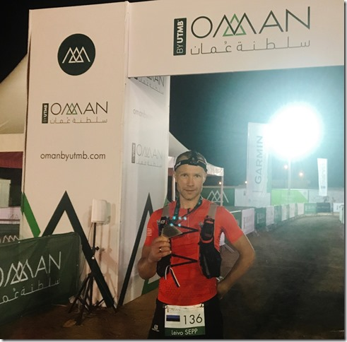 Oman by UTMB 2018 Leivo Sepp finish
